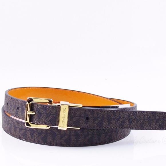 4b0f9164c256 Michael Kors Reversible 20mm MK Logo Belt